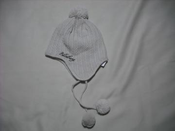 mb08 男 BILLABONG ビラボン 耳当て ボンボン付き ニット帽