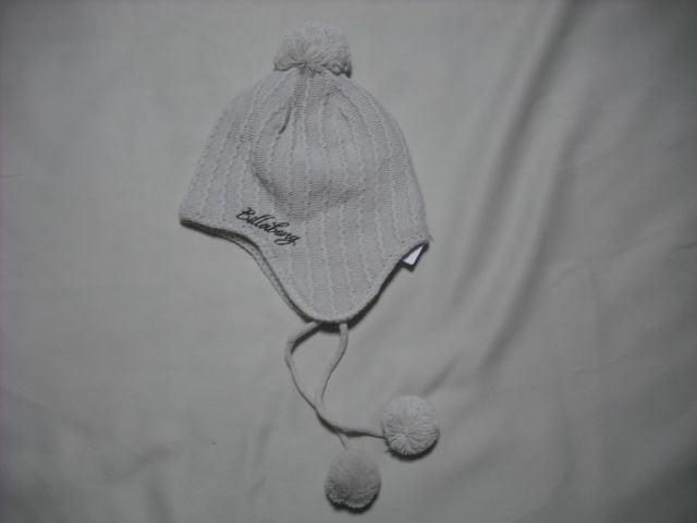 mb08 男 BILLABONG ビラボン 耳当て ボンボン付き ニット帽  < ブランドの