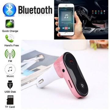 Bluetooth FMトランスミッター 音楽 電話 スマホ SDカード