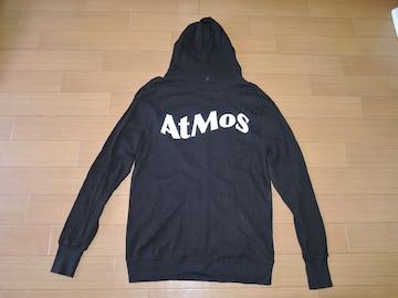ATMOS アトモス 薄手サーマル調 ジップ パーカー カットソー黒 L