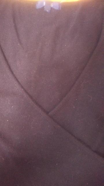 ROPE黒七分袖カシュクールニット < ブランドの