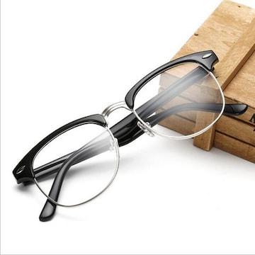 サーモント メガネ ブルーライトカット 伊達眼鏡 PC用メガネ 銀