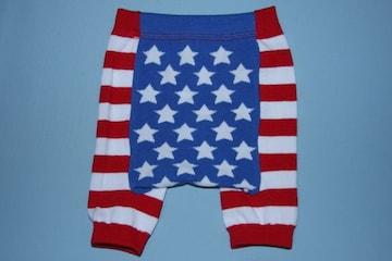 USフラッグ柄子供用キッズショートスパッツ/レギンス80-100星条旗USA