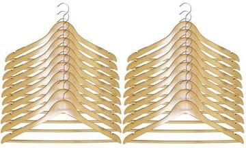 木製ハンガー 衣類ハンガーナチュラル色 20本組セット