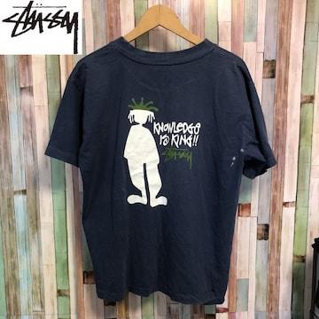 90's ビンテージ STUSSY クラウンデザイン Tシャツ