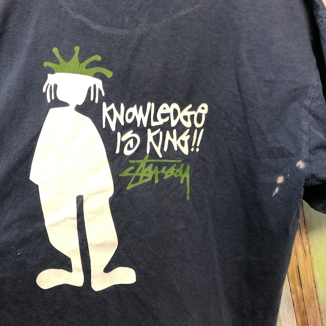 90's ビンテージ STUSSY クラウンデザイン Tシャツ < ブランドの