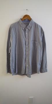 大きいサイズ ギンガムチェックシャツ 4L
