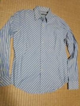 PSUDO 斜めストライプシャツ