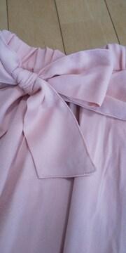 シフォンスカート☆ウエストリボン 150 ピンク