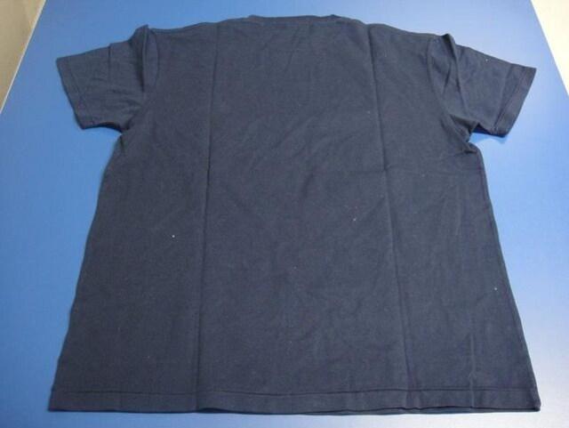 Polo by RalphLauren/ポロ ラルフローレン★ポロシャツ生地Tシャツ 紺色 サイズL < ブランドの