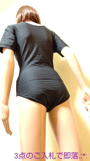 美品☆シャルレ☆光沢つる�A透しST黒レオタード4913☆3点で即落 < レジャー/スポーツの