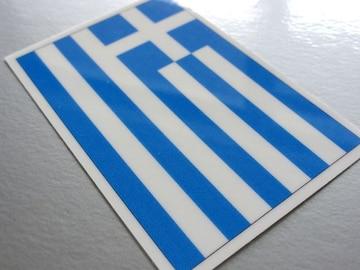 1□ギリシャ国旗ステッカー☆1枚即買☆ヨーロッパ