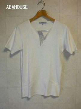 □ABAHOUSE/アバハウス スウェット地 ヘンリー 半袖 Tシャツ/メンズ・サイズ2