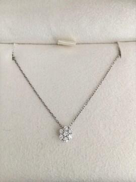 ヴァンドーム青山 ダイヤモンド ネックレス Pt950 0.10ct