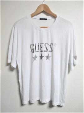☆GUESS ゲス オーバーサイズ ビッグロゴ Tシャツ 半袖/メンズ/M☆ホワイト