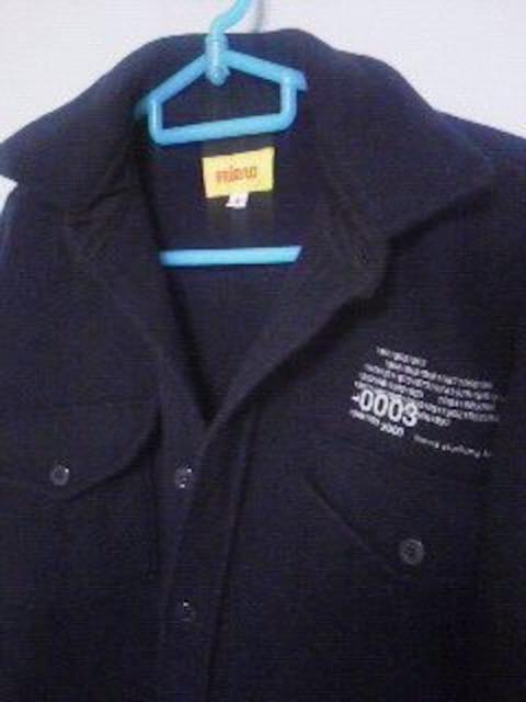 Fー79★men'sカジュアルジャケット ネイビー S < 男性ファッションの