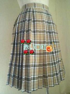 150�p*制服風プリーツスカート茶系