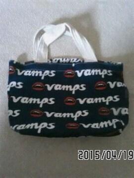 非売品・VAMPS・ロゴ&ヴァンパイアリップ総柄トートバッグ