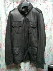 シシsisiiレザーブルゾンM65ジャケットブラックs