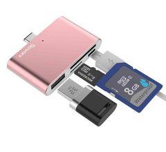多機能 USBハブ USB3.1 Type-C ローズゴールド 一体型