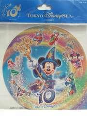 TDS東京ディズニーシー10周年ステッカー新品ミッキーミニーダッフィーアリエル