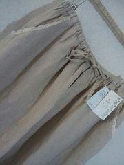 **SM 2* 麻100% 裾レースギャザースカート 新品7245円
