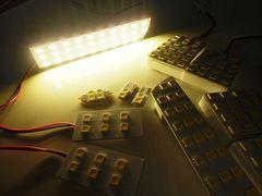 20系ヴェルファイア用/498連級SMD-LEDルームランプセット/電球色