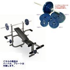 マルチトレーニングベンチ+コンパクトバーベル27.5kgセット