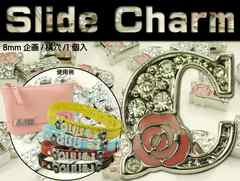 Cスライドチャームパーツバラ1個 首輪やコインケースに Adc9029