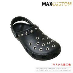クロックス crocs パンク カスタム 黒 新品 ブラック 22-30