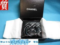 質屋☆本物 シャネル 財布 カンボン ブラック+エナメルココ