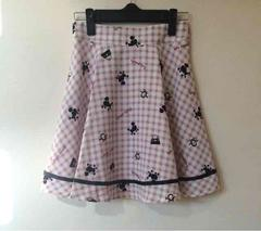 販売終了 新品未使用美品 AnkRougeチェック&プードル柄スカート