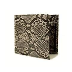 パイソン風ヘビ柄二つ折り財布