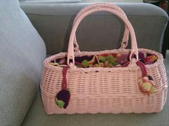 美品!和装籠かごバッグ/浴衣、和装用小物、夏祭り
