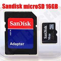 送料無料 SANDISK 16GB microSDHC マイクロSD クラス4 SDアダプタ 写真用
