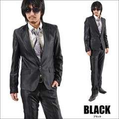 【PP】1Bシャンブレースーツ新品ブラックM