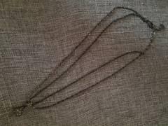 いぶし銀×キラキラボール 2重ネックレス