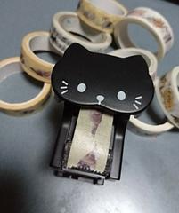 マスキングテープ9個&テープカッター猫SET