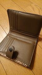 バーバリー・ブルーレーベル2つ折り財布チェック中古品