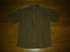 STUSSYステューシーチェックシャツS茶系半袖