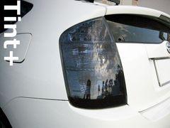 Tint+何度も貼れるプリウス20系前期テールランプ スモークフィルム 改造