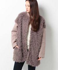 AZUL by moussyマウジー フェイクファー切替ブルゾン8,629円新品