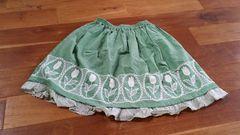シャーリーテンプル✨グリーンチューリップ刺繍スカート130