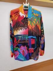 ■JUNTINI ジュンチーニ シフォンブラウス 長袖シャツ 羽織り