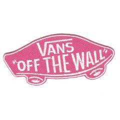 VANS(バンズ)OFF THE WALL*ワッペン*ピンク白*vas004