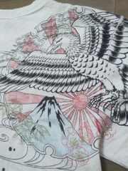 ★USED[クロップドヘッズ]鷹富士に松竹梅 半袖Tシャツ スカジャン好きにも