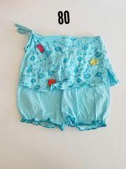 水色スカートつき半ズボン
