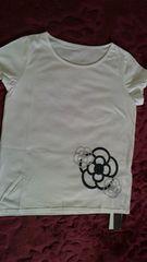新品 CLATHAS クレイサス Tシャツ 半袖 カメリア 白 半額