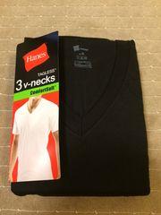 へインズ Vシャツ 黒色 3枚セット LLサイズ