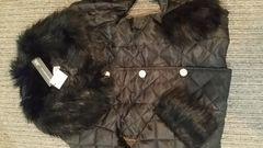 ジュリアブティック袖&襟ファーキルティング中綿ジャケット